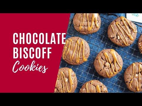Chocolate Biscoff Cookies