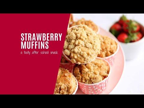 Bakery Style Strawberry Muffins