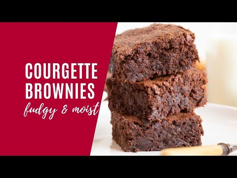 Fudgy Courgette Brownies