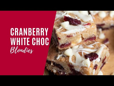 Cranberry White Chocolate Blondies
