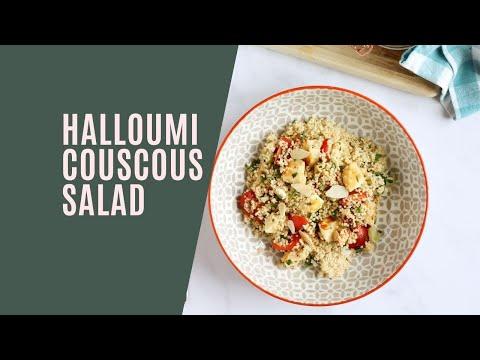 Herby Halloumi Couscous Salad