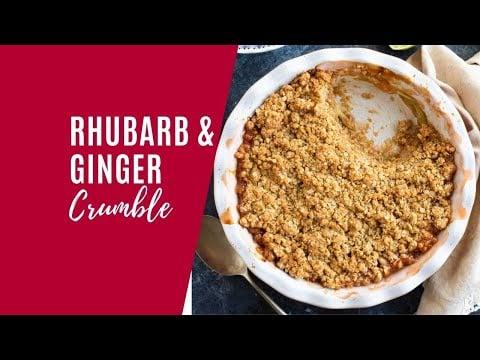 Rhubarb and Ginger Crumble