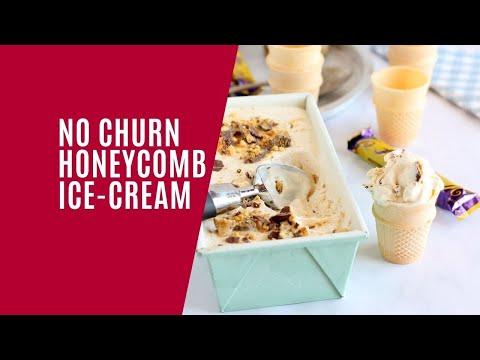 No Churn Honeycomb Ice-Cream
