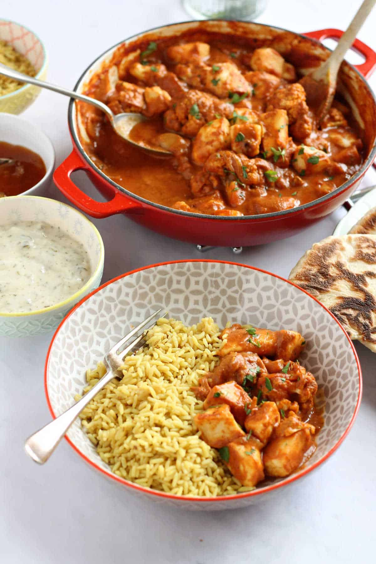 A curry night feast