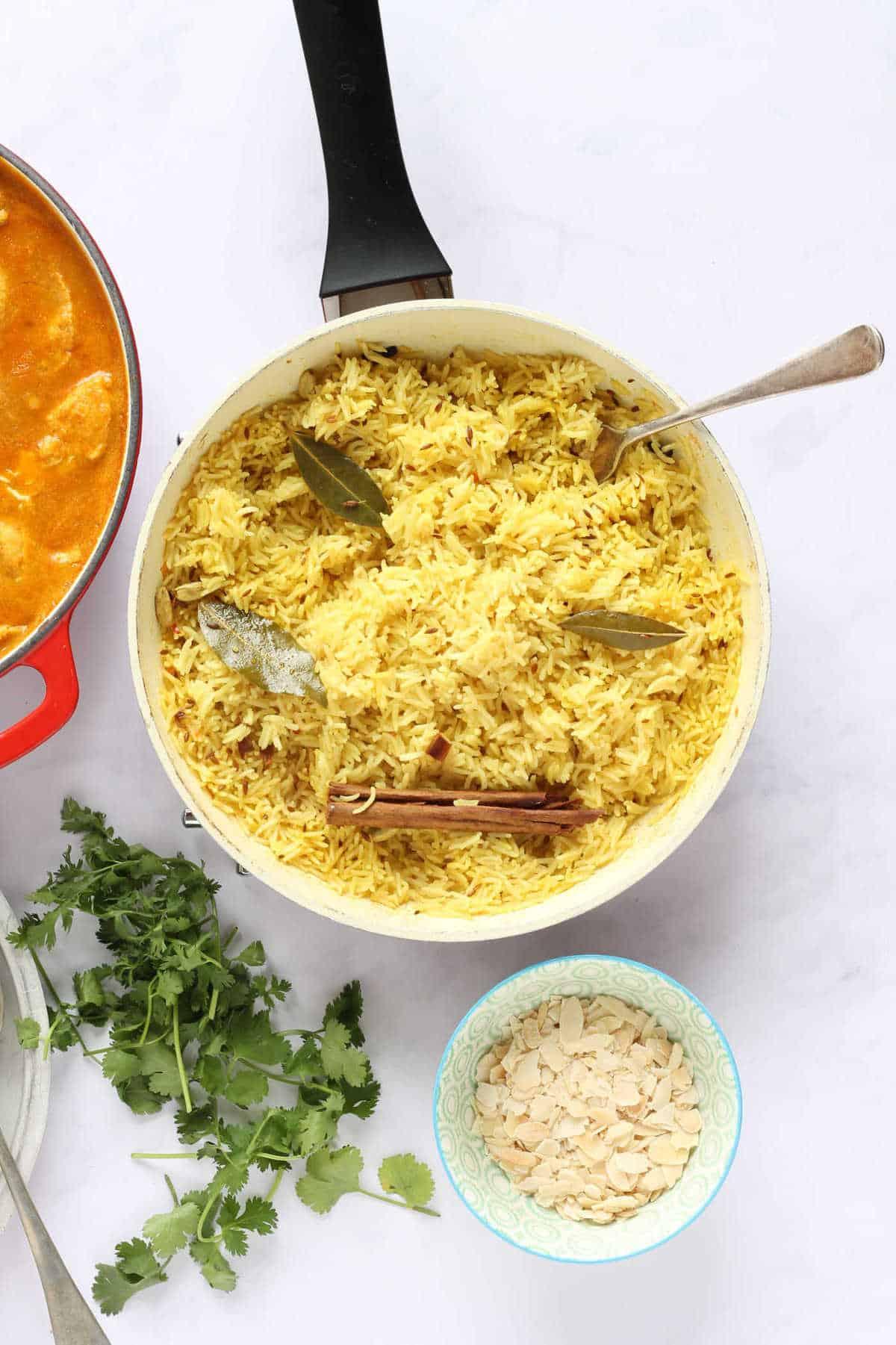 Overhead shot of pilau rice
