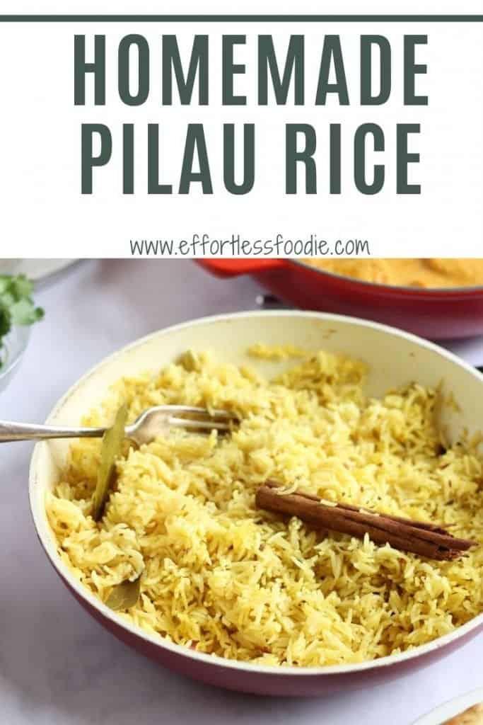 homemade pilau rice