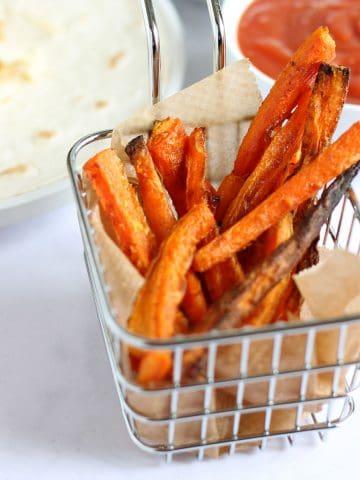 baked carrot fires