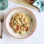 Halloumi Couscous Salad in a serving bowl