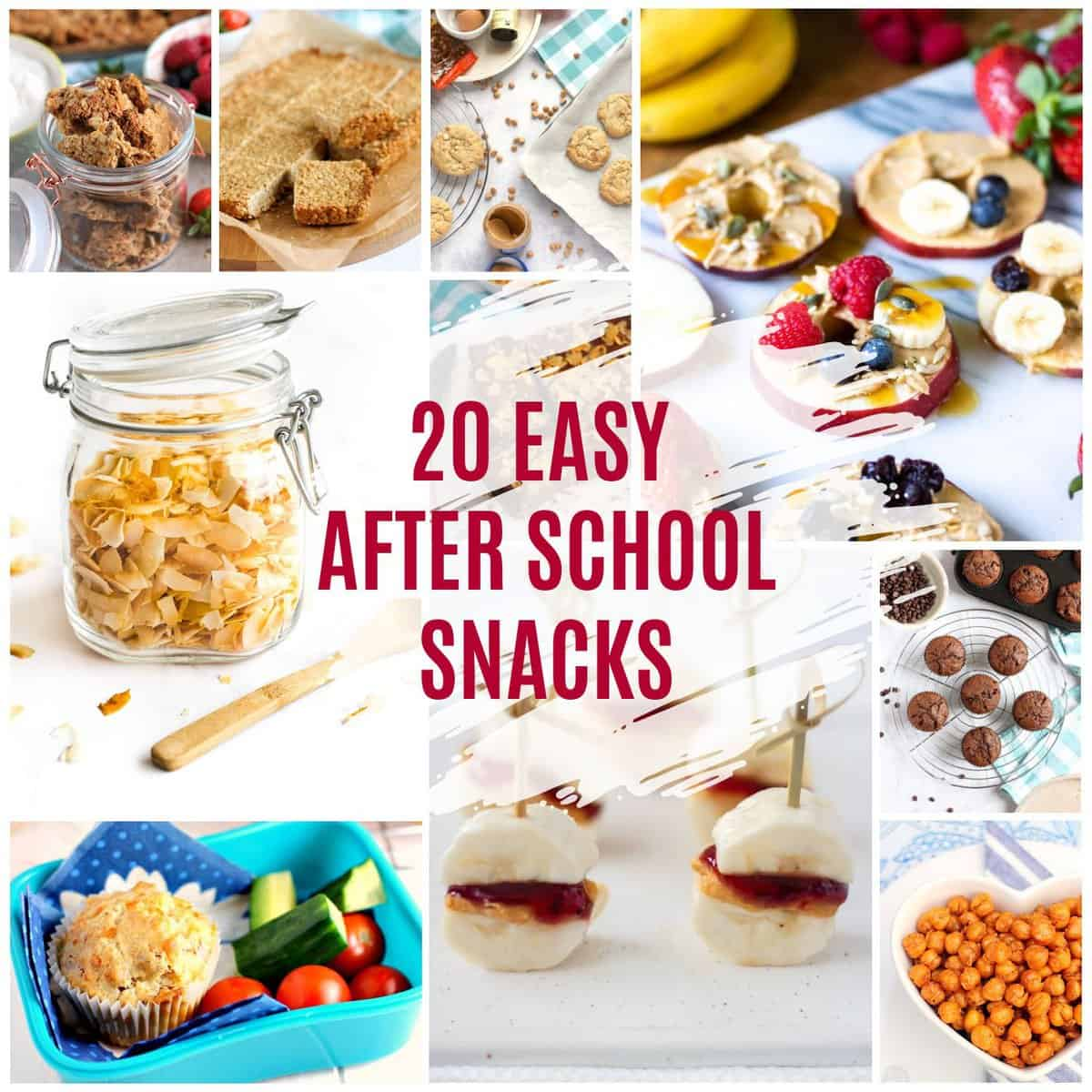 After school snacks collage