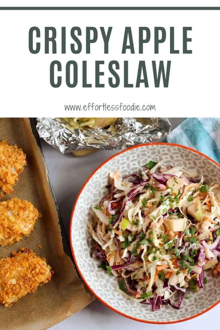 Apple coleslaw pin image