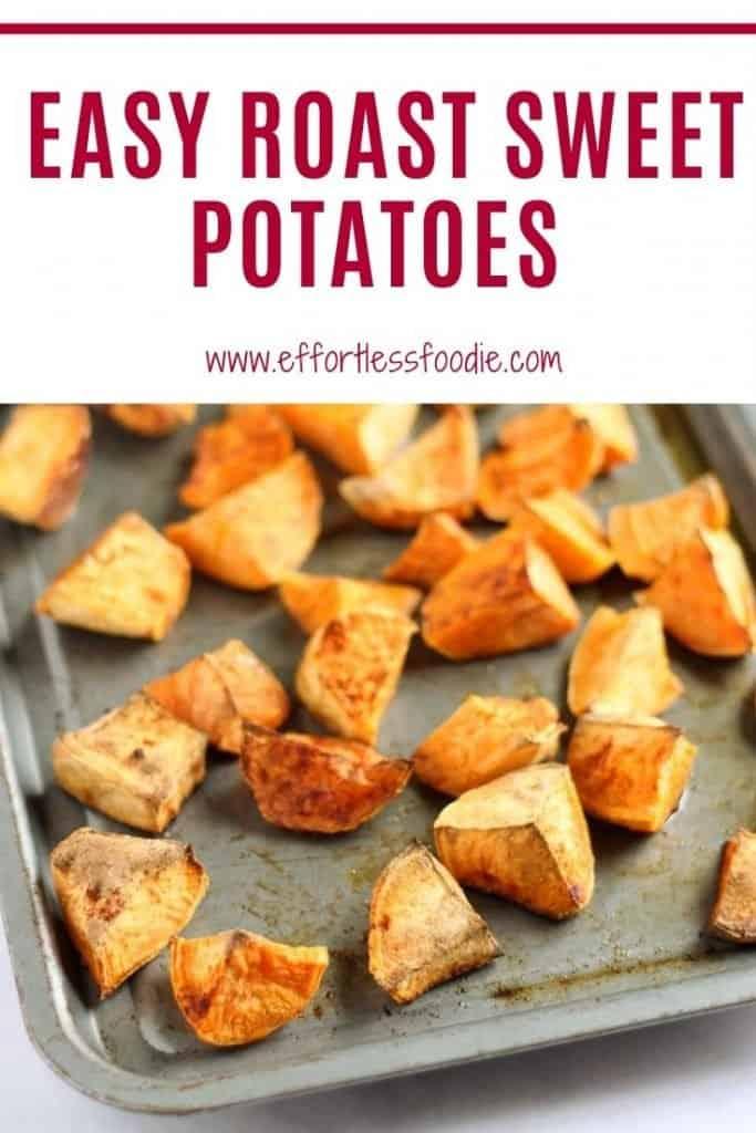 easy roast sweet potatoes pin