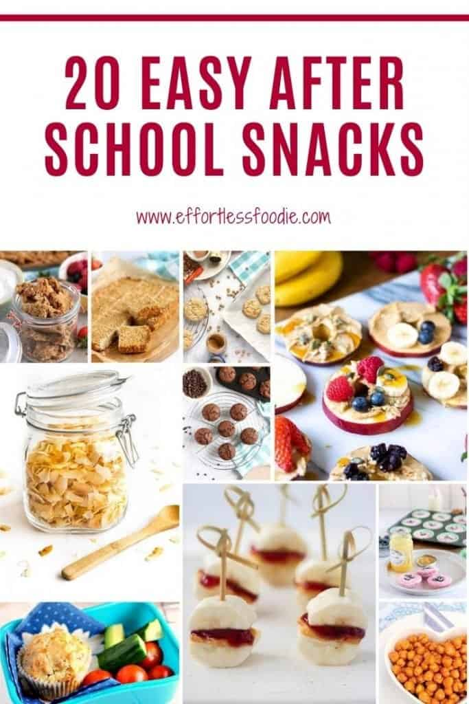 After school snacks pinterest graphic