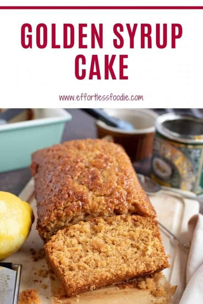 Golden Syrup Cake Pinterest Pin.