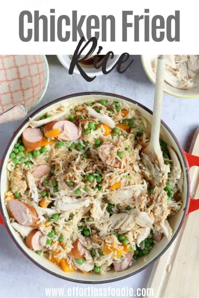 CHicken Fried Rice pin image.