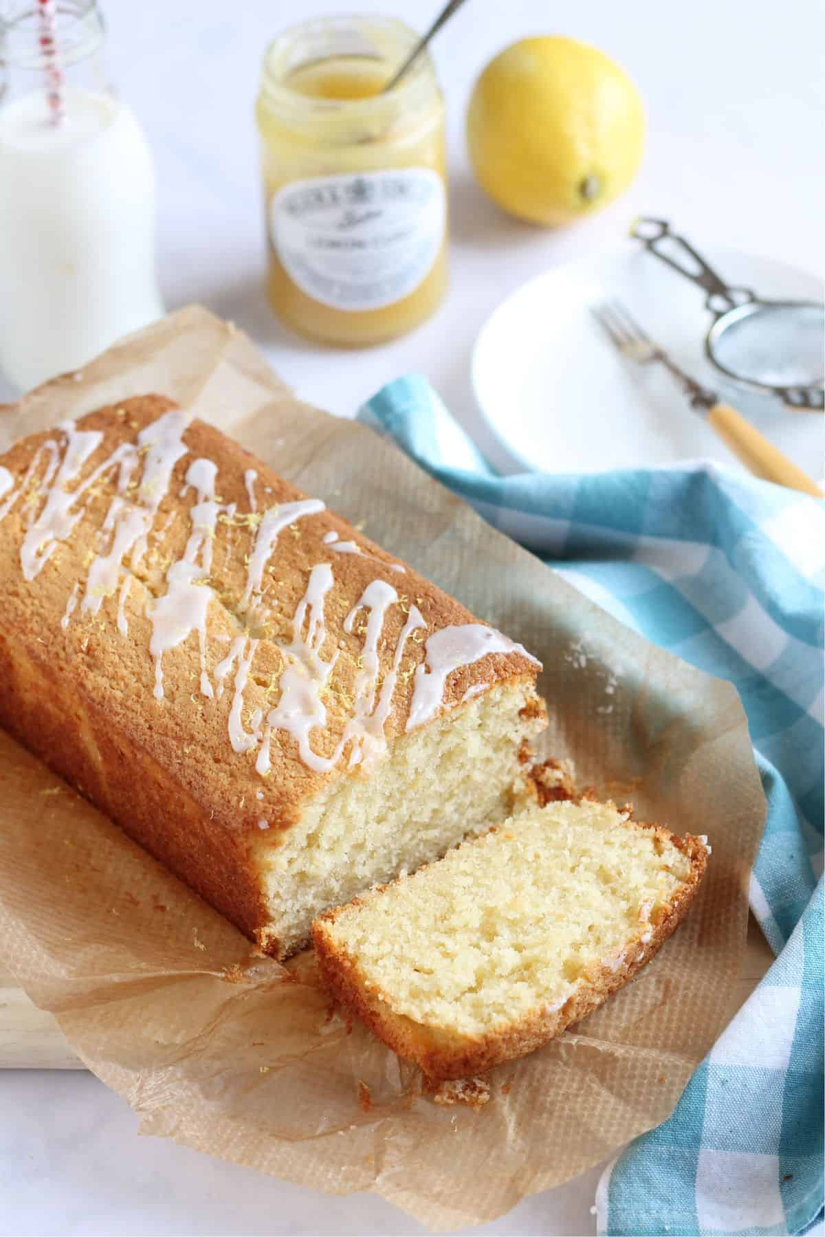 Lemon Curd Loaf Cake.
