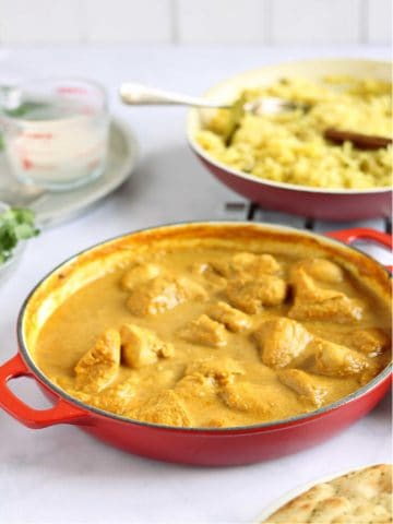 Mild chicken curry for kids.