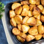 Roast potatoes in an air fryer.