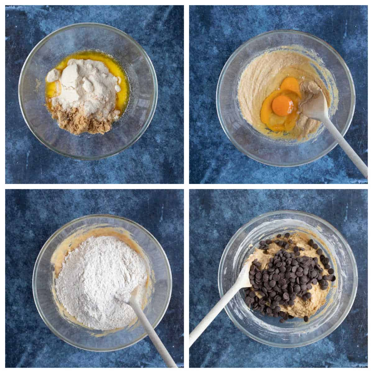 Step by step photo instructions for making Biscoff blondies part 1.