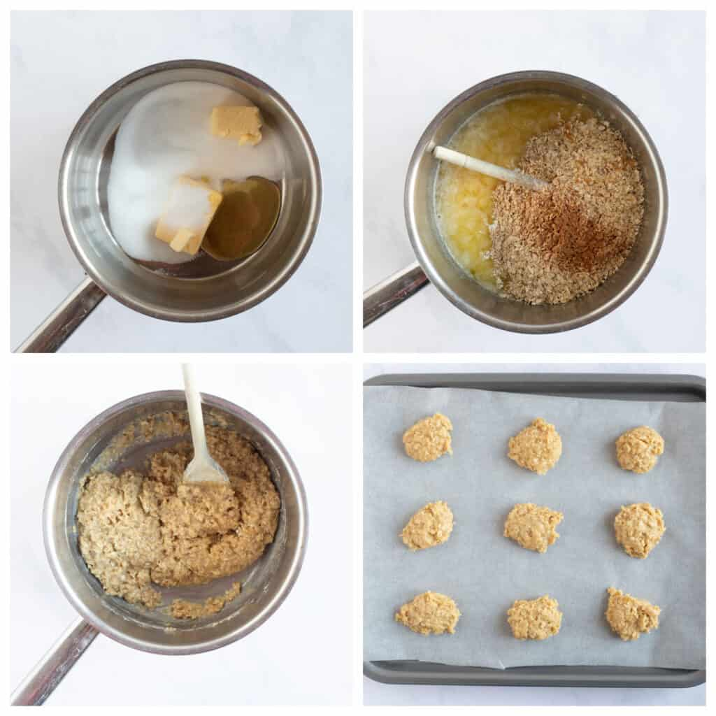 Step by step photo instructions for making cinnamon cookies.