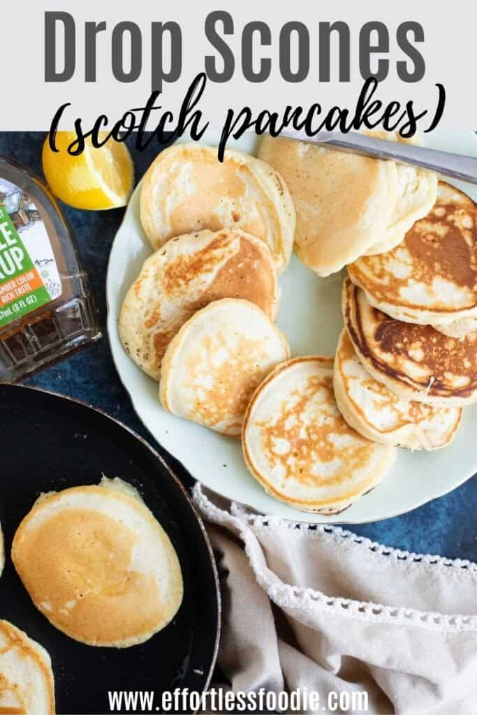 Scotch pancakes pin image.