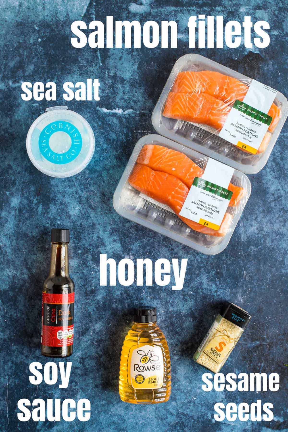 Ingredients needed for air fryer salmon.
