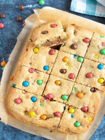 M&M Cookie Bars Web Story Cover.