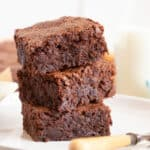 A stack of courgette brownies.