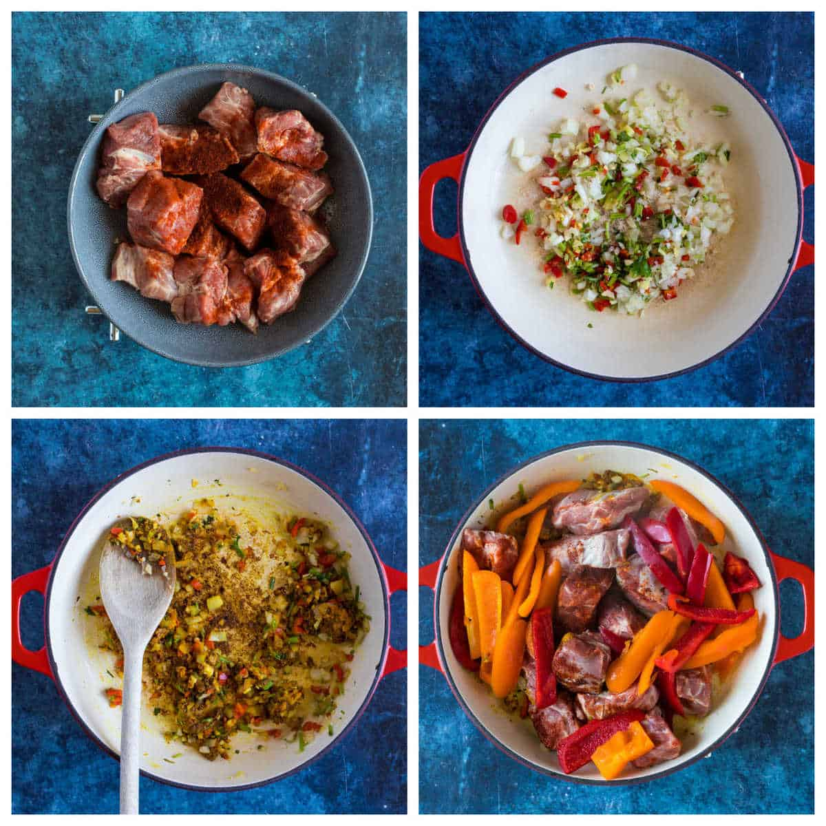 Step by step photo instructions for making easy lamb balti.