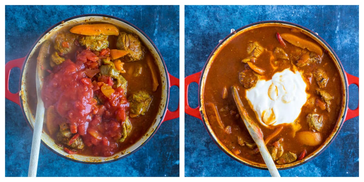 Step by step photo instructions for making lamb balti part 2.
