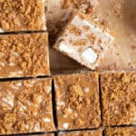 Squares of biscoff rocky road.