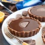 Chocolate orange tartlet.