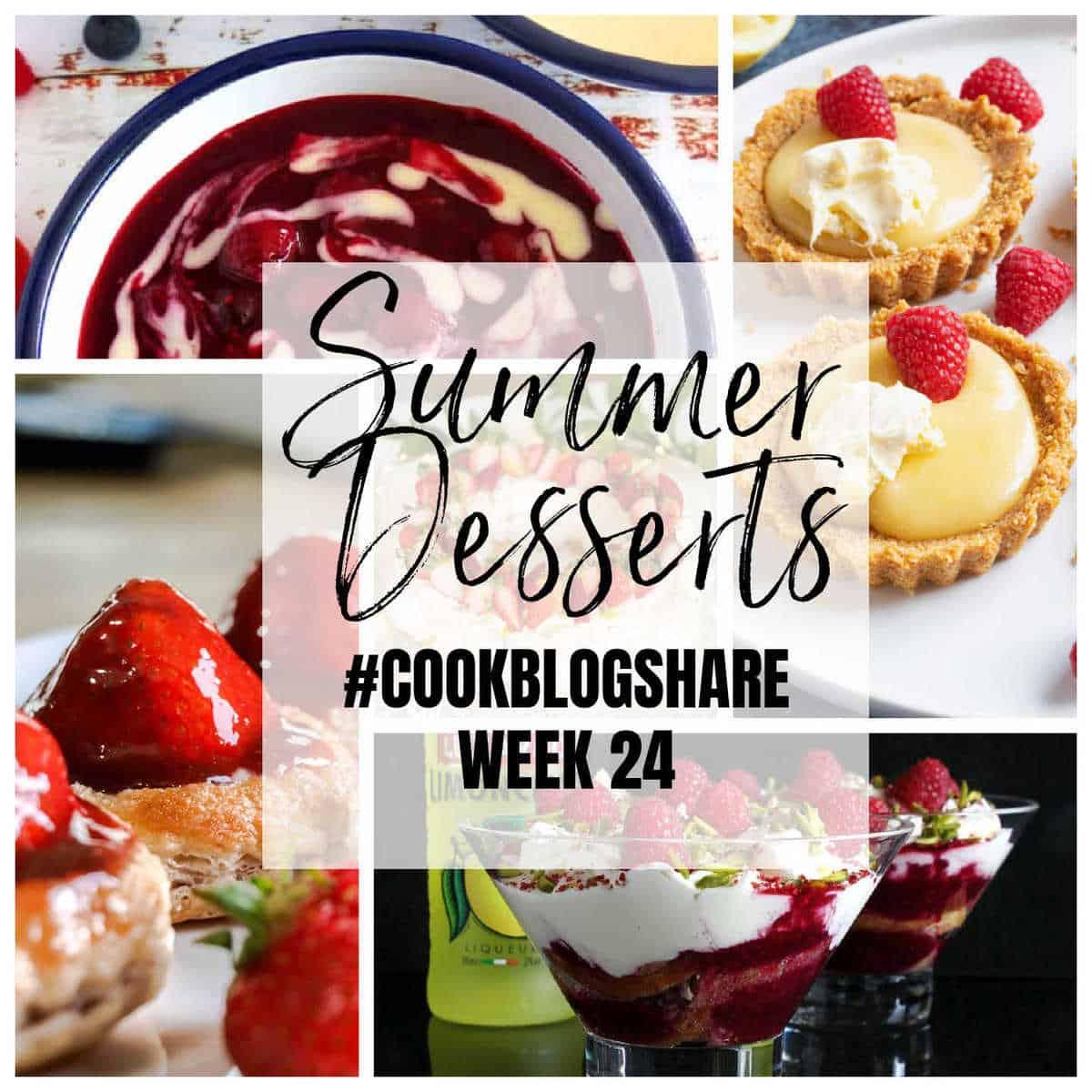 Summer desserts collage.