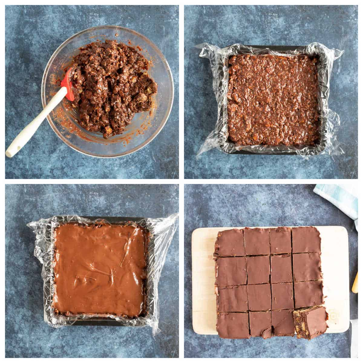 Step by step photo instructions for making hedgehog slice part 2.