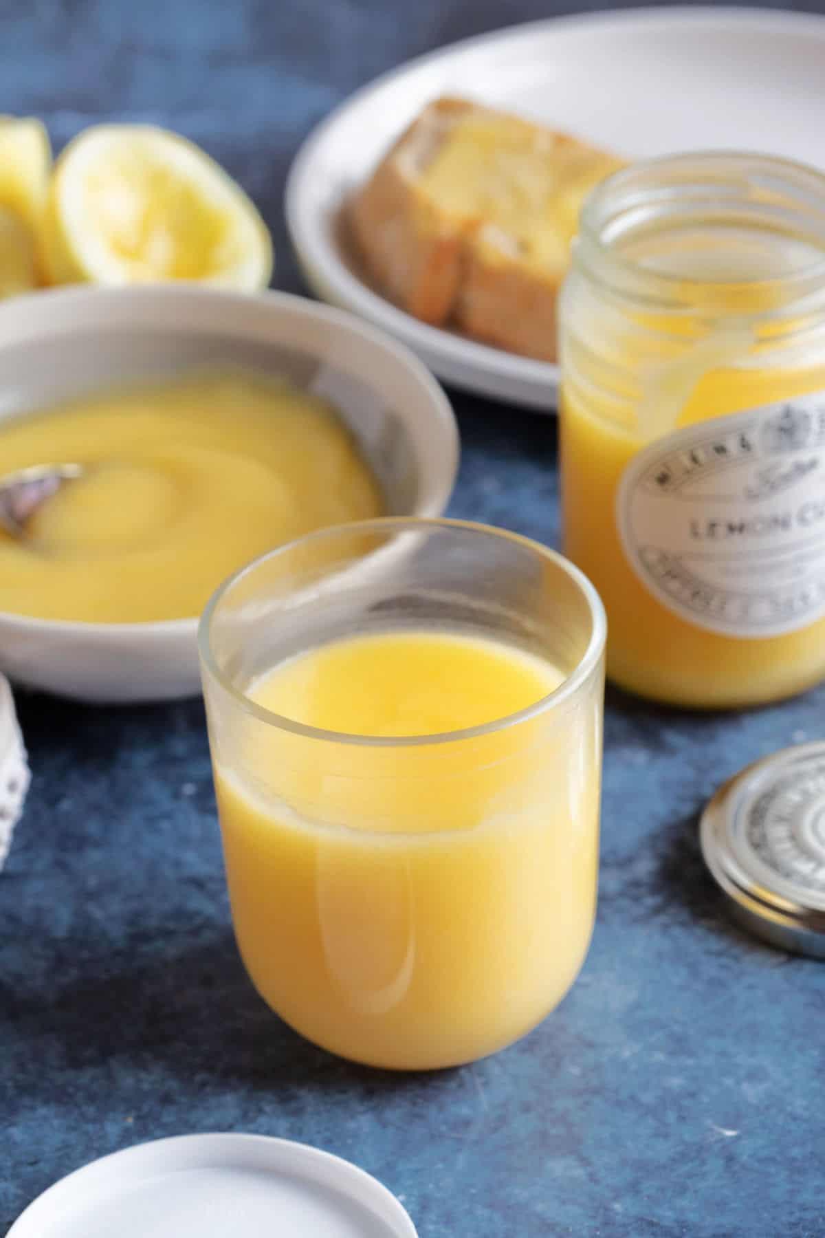 A jar of lemon curd.