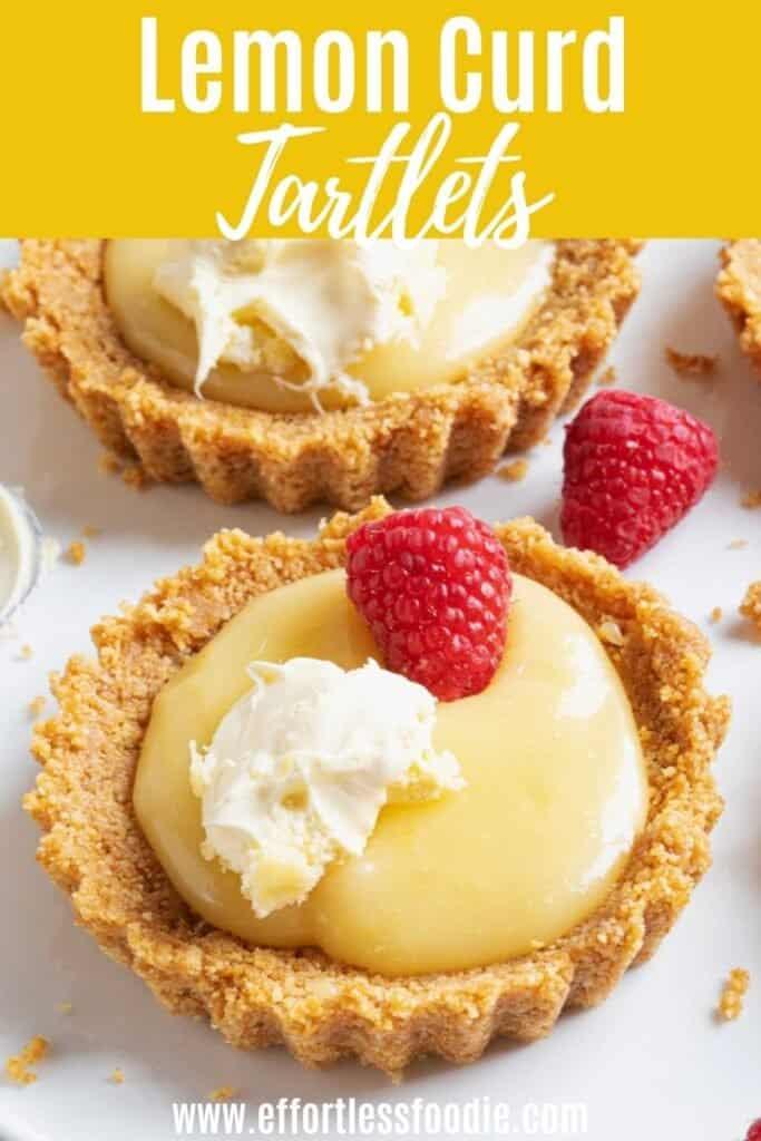 Lemon Curd Tartlets pin image.