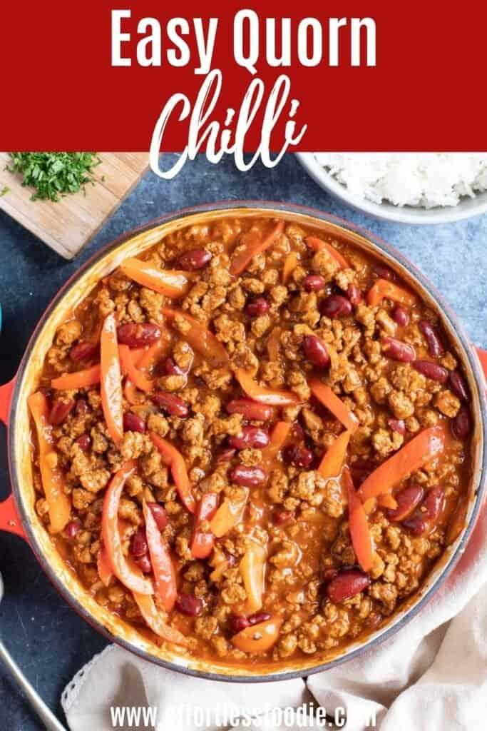 Quorn Chilli Con Carne pin image.