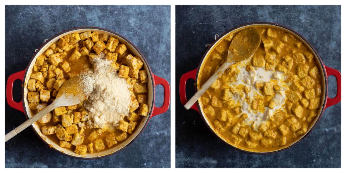 Quorn korma curry.