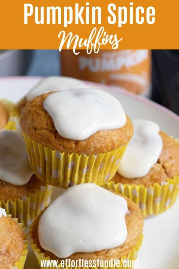 Pumpkin muffins Pinterest image.