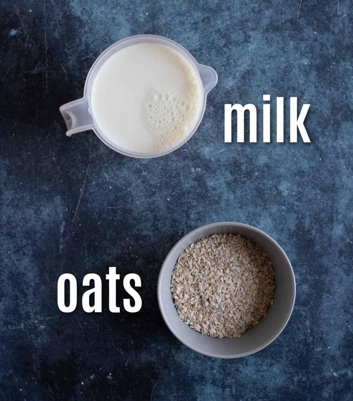 Ingredients for slow cooker porridge.