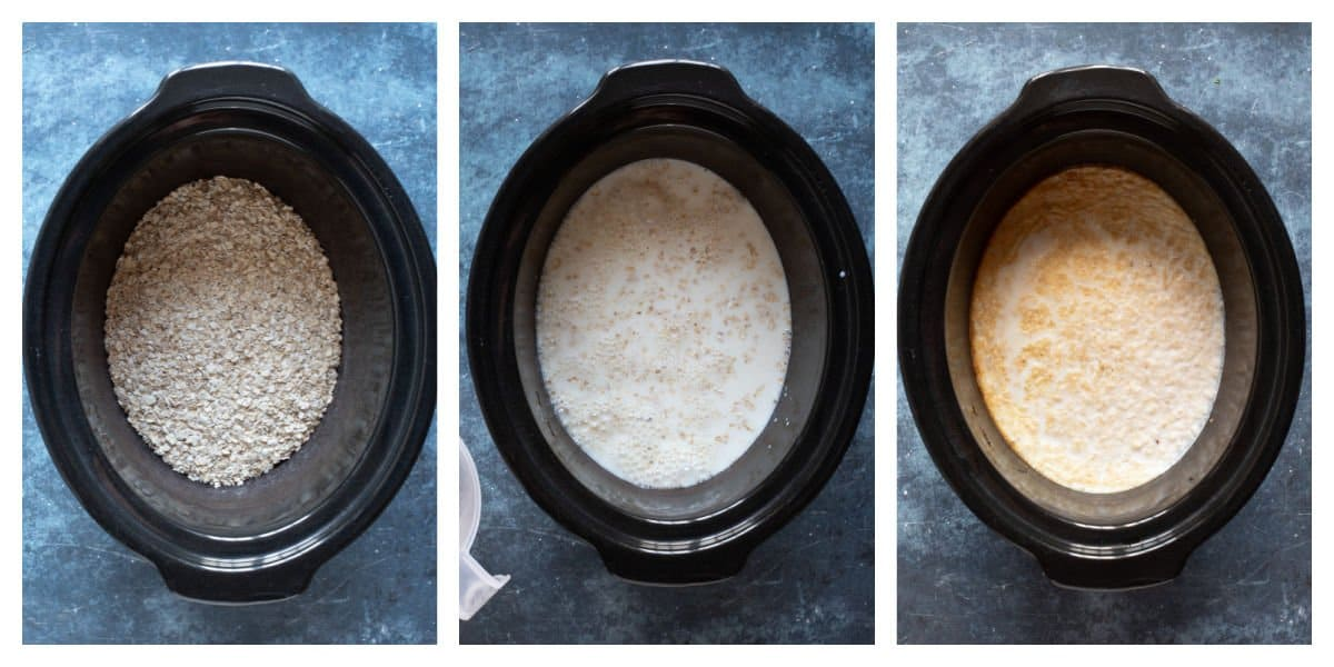 How to make porridge in a slow cooker - step by step photos.